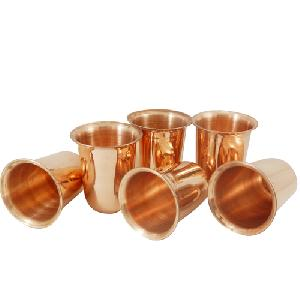 Copper Twisted Juice Glasses