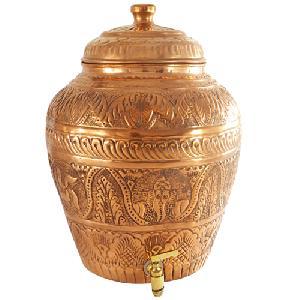 Copper Nakashi Matka Pot