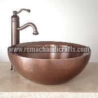 1002 Casalina Hammered Copper Vessel Sink