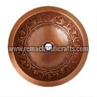 1005 Sunflower Double Wall Copper Vessel Sink