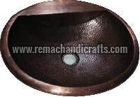 2008 Undermount Hammered Oval Copper Sink