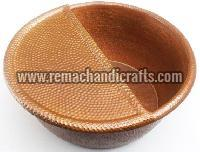 Hammered Copper Pedicure Bowl