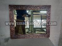 6001 Rectangular Stone Design Copper Mirror