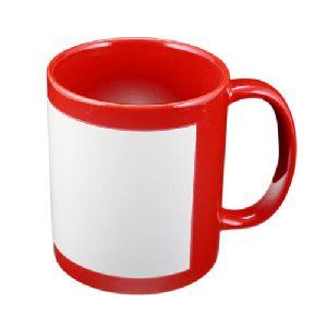 Colour Mug With White Patch