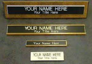 Name Plate Printing Service