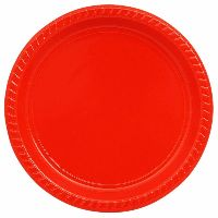 Red Food grade Reusable Plastic Plate