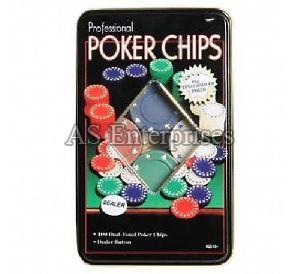 100 Pcs Tin Case Poker Chip Set