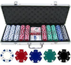 500 Pcs Diced Poker Chip Set Without Denomination