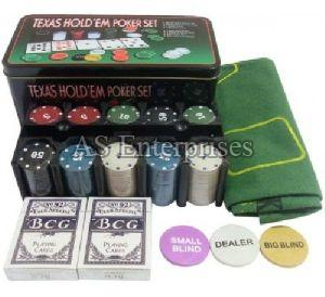 200 Pcs Diced Poker Chip Set With Denomination
