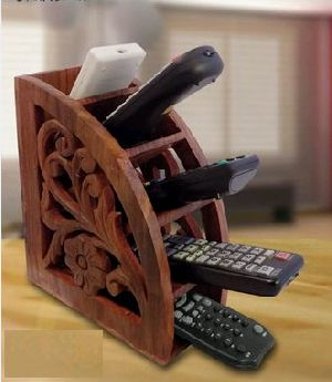 Wooden Multi Remote Control Holder
