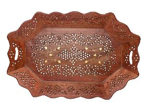 VIAN0763 Wooden Fruit Serving Tray