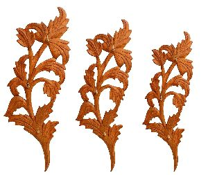 Wooden Leaf Shaped 3 Piece Key Hanger Set