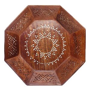 VIAN0762 Wooden Fruit Serving Tray