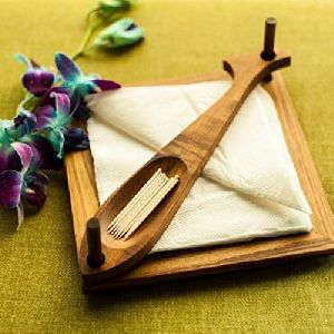 Wooden Napkin & Toothpick Holder