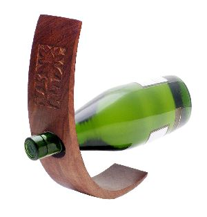 Wooden Single Bottle Holder