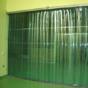 Green PVC Strip Curtain