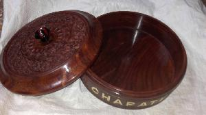 Wooden Chapati Box 01