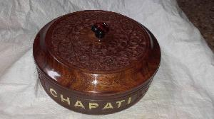 Wooden Chapati Box 02