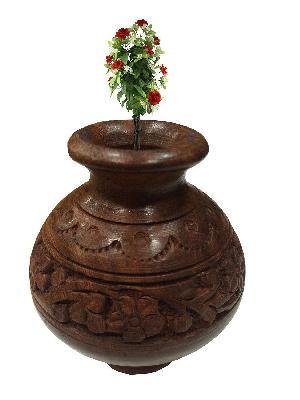 Wooden Flower Pot 02