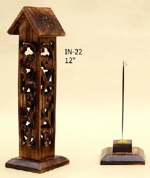Wooden Incense Stick Burner Tower 02