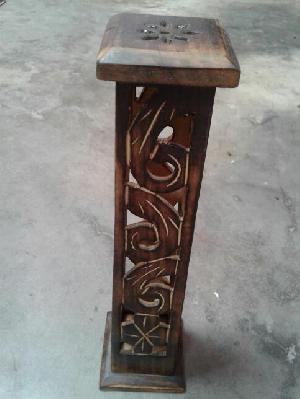 Wooden Incense Stick Burner Tower 07