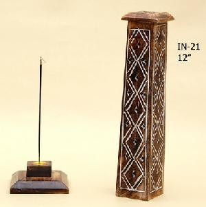 Wooden Incense Stick Burner Tower 19