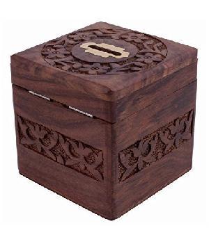 Wooden Money Bank 02