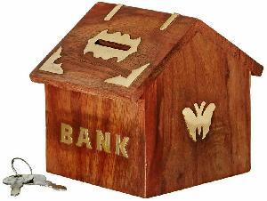 Wooden Money Bank 04