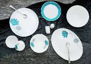 Cello Pristine Aqua Dinner Set