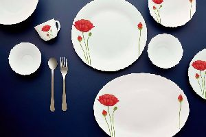 Cello Red Poppy Dinner Set