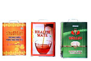 15 Ltr Square Tin with Full Offset Printing