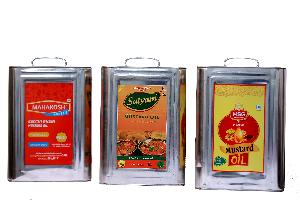 15 Ltr Square Tin with Panel Offset Printing