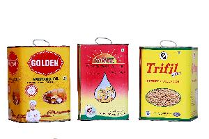 5 Ltr Square Tin with Full Offset Printing