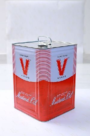 Square Tin Container 04