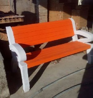 Orange Outdoor Bench