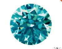 Blue Moissanite Diamond 03