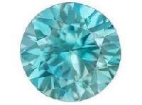 Blue Moissanite Diamond 06