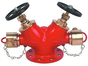 Fire Fighting Double Headed Hydrant Valves