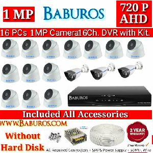 16P1M16C AHD CCTV Camera Kit