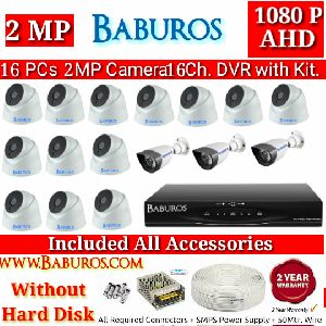 16P2M16C AHD CCTV Camera Kit