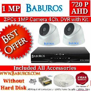 2P1M4C AHD CCTV Camera Kit