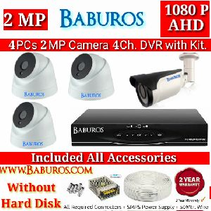 4P2M4C AHD CCTV Camera Kit