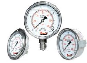 Bourdon Type Liquid Filled Pressure Gauges