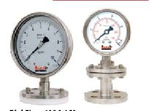 Flanged End Diaphragm Sealed Pressure Gauges