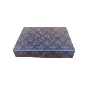 Golden Printed Wedding Invitation Box