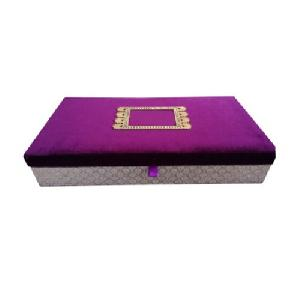 Purple Velvet Wedding Invitation Box