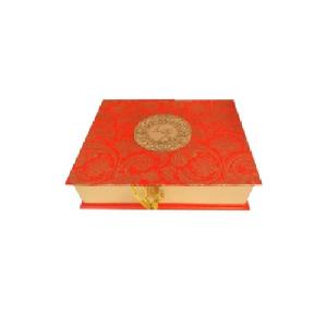 Red Jute Wedding Invitation Box