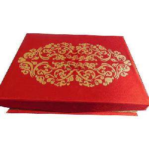 Red Satin Wedding Invitation Box