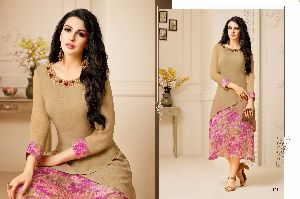Georgette Embroidered Kurtis