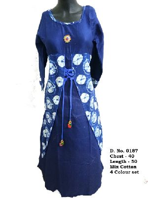 Ladies Mix Cotton Kurtis